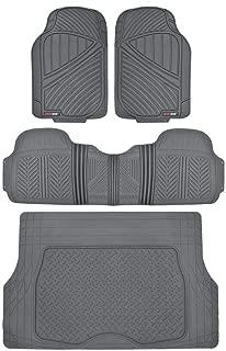 Motor Trend Flextough Rubber Car Floor Mats & Cargo Trunk Mat Set Black Heavy Duty - Odorless, Extreme Duty (Gray)