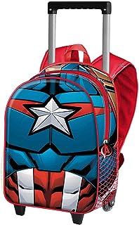 Capitán América Civil War - Mochila Basic con Carro, Negro