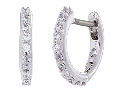 Kate Spade New York Tiny Twinkles Pave Huggies Earrings (Clear/Silver) Earring