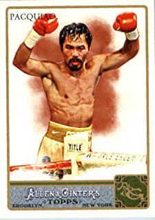 2011 Topps Allen & Ginter Baseball Card # 262 Manny Pacquiao - World Champion Boxer - In a Protective Display Case!