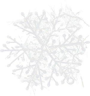 20 Paquetes Con 60 Piezas De Copos Nieves Para Árbol De Navidad Colgantes Adornos 6cm Blanco