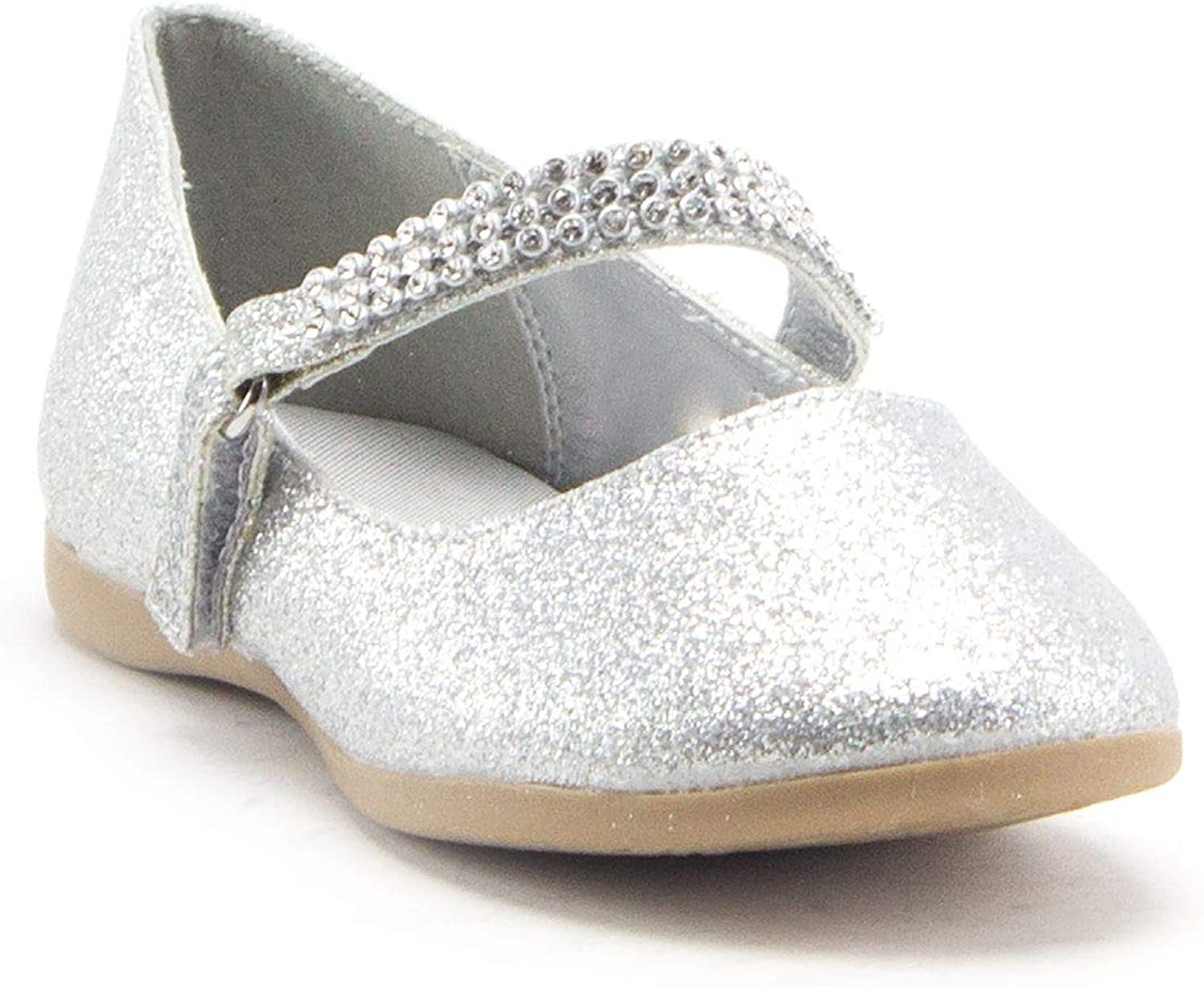 Little Toddler Girls' Glitter SEAL limited product Diamond Shimmer Inventory cleanup selling sale Mary Toe J Round
