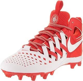NIKE Mens Huarache V Lax Challenge Red/White White Cleated Shoe 11 Men US