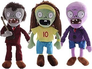 "Joyear Plants VS. Zombies 1 2 PVZ Stuffed Plush Toy 8"" Tall for Children, Geart Gift for Halloween, Christmas (Set of 3 Zo..."