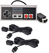 Chilartalent 1 NES Mini Classic Controller with 2 Pack of 10ft Extension Cable for NES Classic, SNES Classic, Wii and Wii U Controller