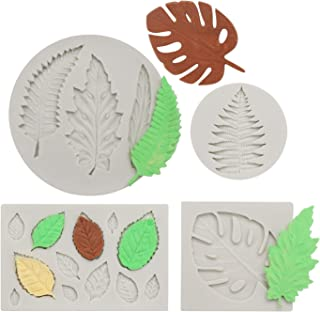 Leaf Fondant Mold, Beasea 4pcs Maple Pattern Mold Candy Chocolate Cake Decorating Molds for Sugar Craft Polymer Clay