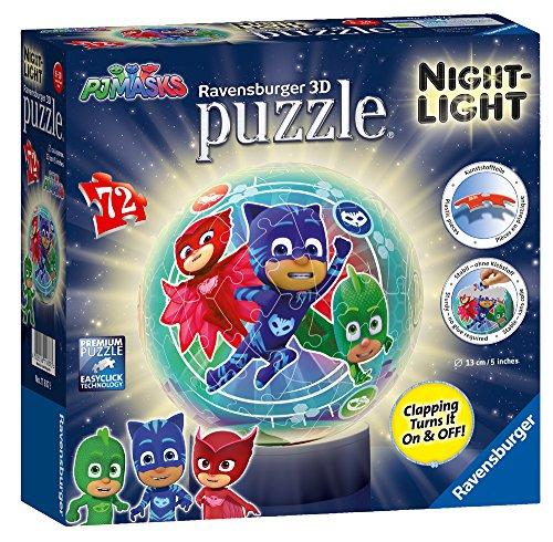 Ravensburger 11837 PJ Masks Nachtlicht, 72 Teile, 3D-Puzzle