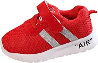 〓COOlCCI〓Kids Lightweight Breathable Sneakers Easy Walk Casual Sport Shoes for Boys Girls Tennis Shoes Running Sneakers