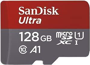 SanDisk Ultra - Tarjeta de memoria microSDXC de 128 GB con adaptador SD, velocidad de lectura hasta 100 MB/s, Clase 10, U1 y A1