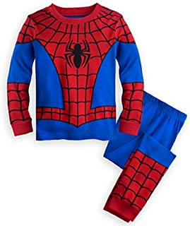 Disney Store Deluxe Spiderman Spider Man PJ Pajamas Boys Toddlers