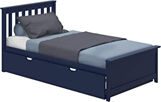 Max & Lily 186210-131 Solid Wood Twin-Size Trundle Bed, Blue