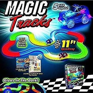 Magic Tracks  165 Pieces That Bend Flex & Glow in Dark 11Ft.