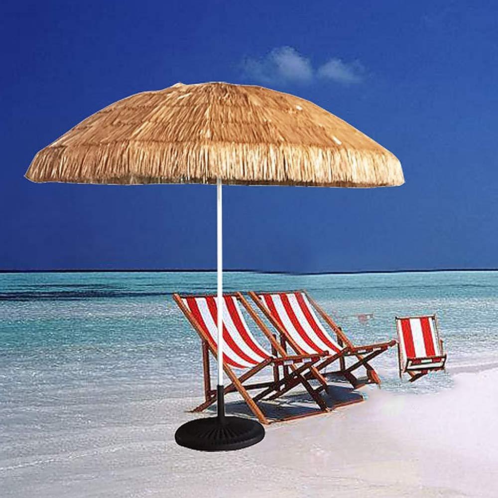 Sombrilla De Playa Hawaiana de Hula, Sombrilla De Jardín con Terraza, Sombrillas con Techo De Paja, Sombrilla Anti-UV, 2.5 M de diámetro: Amazon.es: Jardín