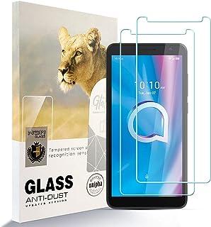 Asoway skärmskydd för ALCATEL 1B 2020 [2-pack] HD härdat glas film anti-fingeravtryck bubbla fri lätt att installera, 9H h...