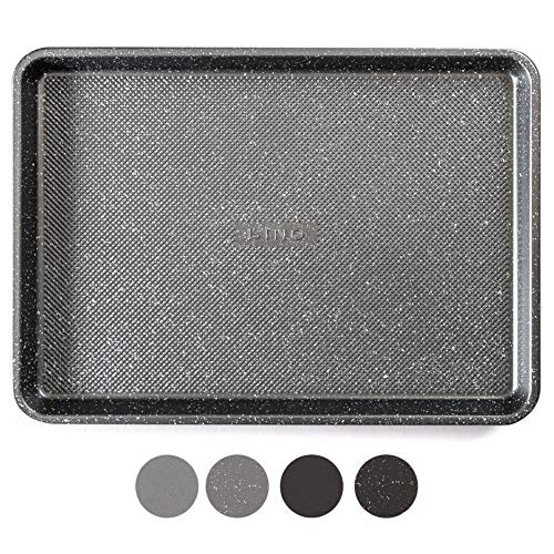 BINO Bakeware Nonstick Cookie Sheet Baking Tray, 13 x 18 Inch - Speckled Gunmetal | Premium Quality Textured Baking Sheet with Even-Flow Technology | Dishwasher Safe | Non-Toxic