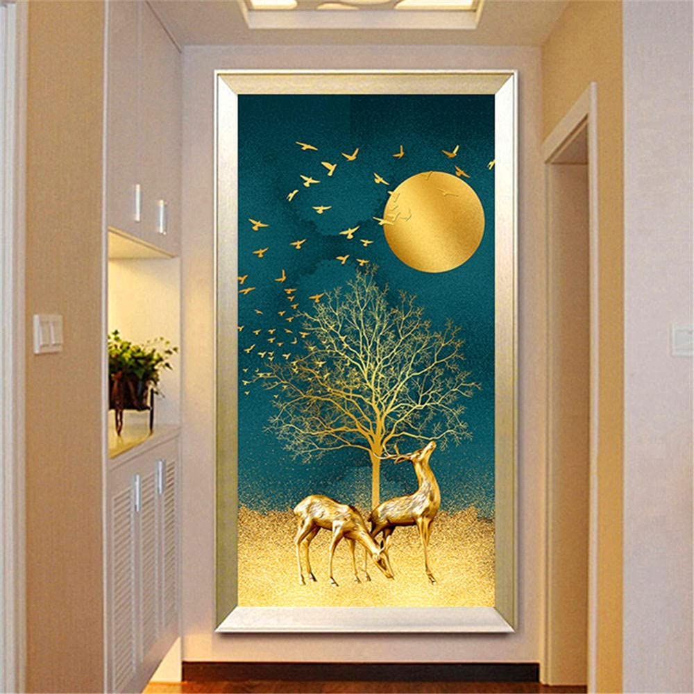 5D DIY Diamond Painting Kits for Pic Moon Luxury goods Deer Tree Adults All items in the store Kids