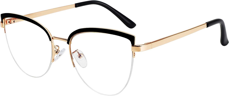 STORYCOAST Max 80% OFF Cat Eye Blue Light Met Ranking TOP3 Blocking Glasses Women Vintage