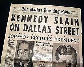 Best 1963 JOHN F. KENNEDY JFK ASSASSINATION Rare Dallas TX Texas Old Newspaper THE DALLAS MORNING NEWS, Nov. 23, 1963