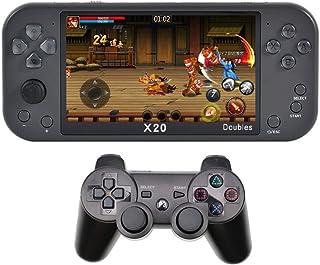 CZT nouveau 5.1 pouces Console de jeu à deux joueurs avec manette sans fil intégrée à 9000 jeux rétro prenant en charge la...