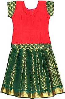 PKD Girls Ethnic Wear Lehenga Choli RED | GREEN