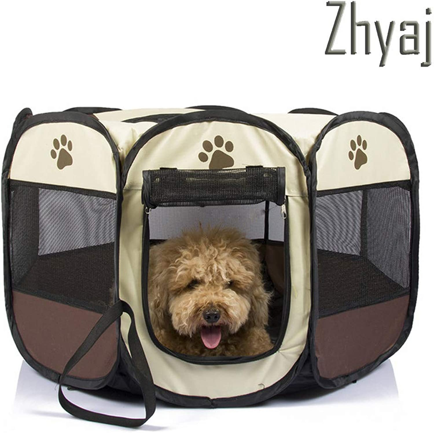 Dog Kennel Outdoor, Foldable Breathable WaterProof AntiMosquito Cat House Dog Bed Travel Basket Cage Playpen Guinea Pig Cage Large Dog Kennel,A