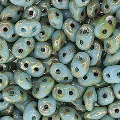 MATUBO SUPERDUO Perles mat jet blanc lustre 10 g
