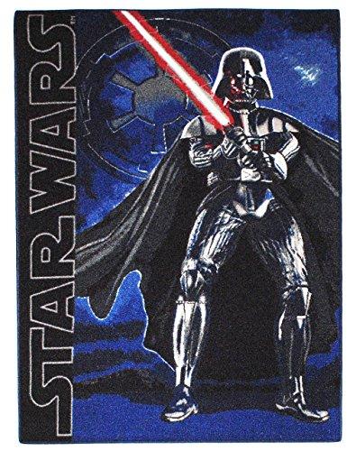 alles-meine.de GmbH Teppich / Spielmatte -  Star Wars / Darth Vader  - Kinderteppich / Bettvorleger - 95 cm * 135 cm - rutschfest , da unten gummiert - für Kinder - Jungen Kind..