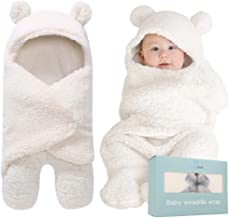 پتو کودک Swaddle   کیسه خواب مخمل خواب دار فوق العاده نرم برای نوزادان 0-12 ماه   دریافت بسته بندی سفید Swaddling   رجیستری نوزادان و پسران   ایده آل برای هدیه دوش کودک و لوازم جانبی کودک