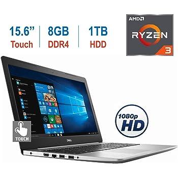 Dell Premium Inspiron 5575 15.6-inch Touchscreen FHD (1920 x 1080) Display Laptop PC, AMD Quad-Core Ryzen 5 2500U up to 3.6 GHz, HDMI, MaxxAudio Pro, Bluetooth, Backlit Keyboard, Windows 10