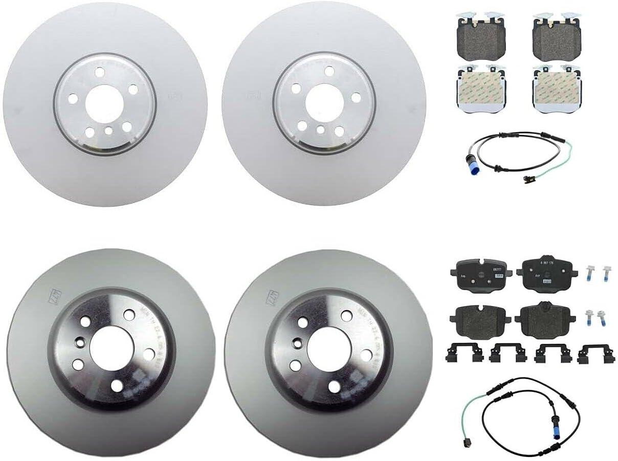 Front Rear Brake kit Disc Atlanta Mall Philadelphia Mall Rotors Pads Compatible with Sensors
