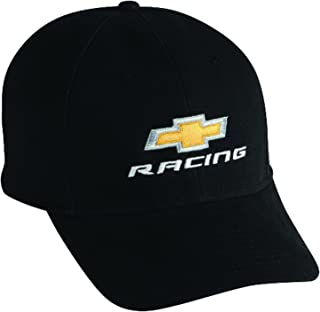 Gregs Automotive Chevrolet Chevy Racing Hat Cap Black - Bundle with Driving Style Decal