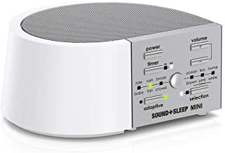 Sound+Sleep Mini High Fidelity Sleep Sound Machine with AC and Battery Power, Real Nature Sounds, Fan Sounds, White Noise and Adaptive Sound Technology