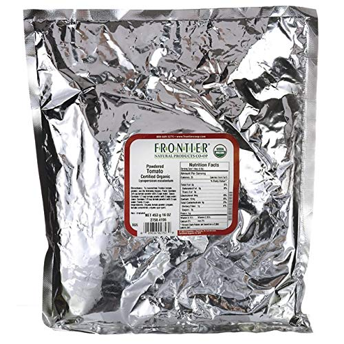 Frontier Co-op Tomato Powder, Certified Organic, Kosher | 1 lb. Bulk Bag | Lycopersicon esculentum