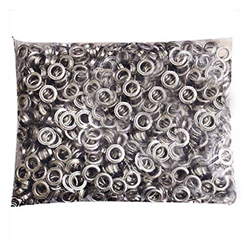 Pinty 1000 Grommets + 1000 Washers - Nickel Finish - #2 Size, 3/8
