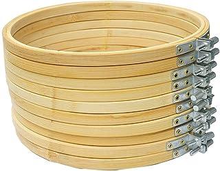Cleana Arts 10-Pack Stickrahmen Bambus Kreis Kreuzstich Hoop Ring 26cm