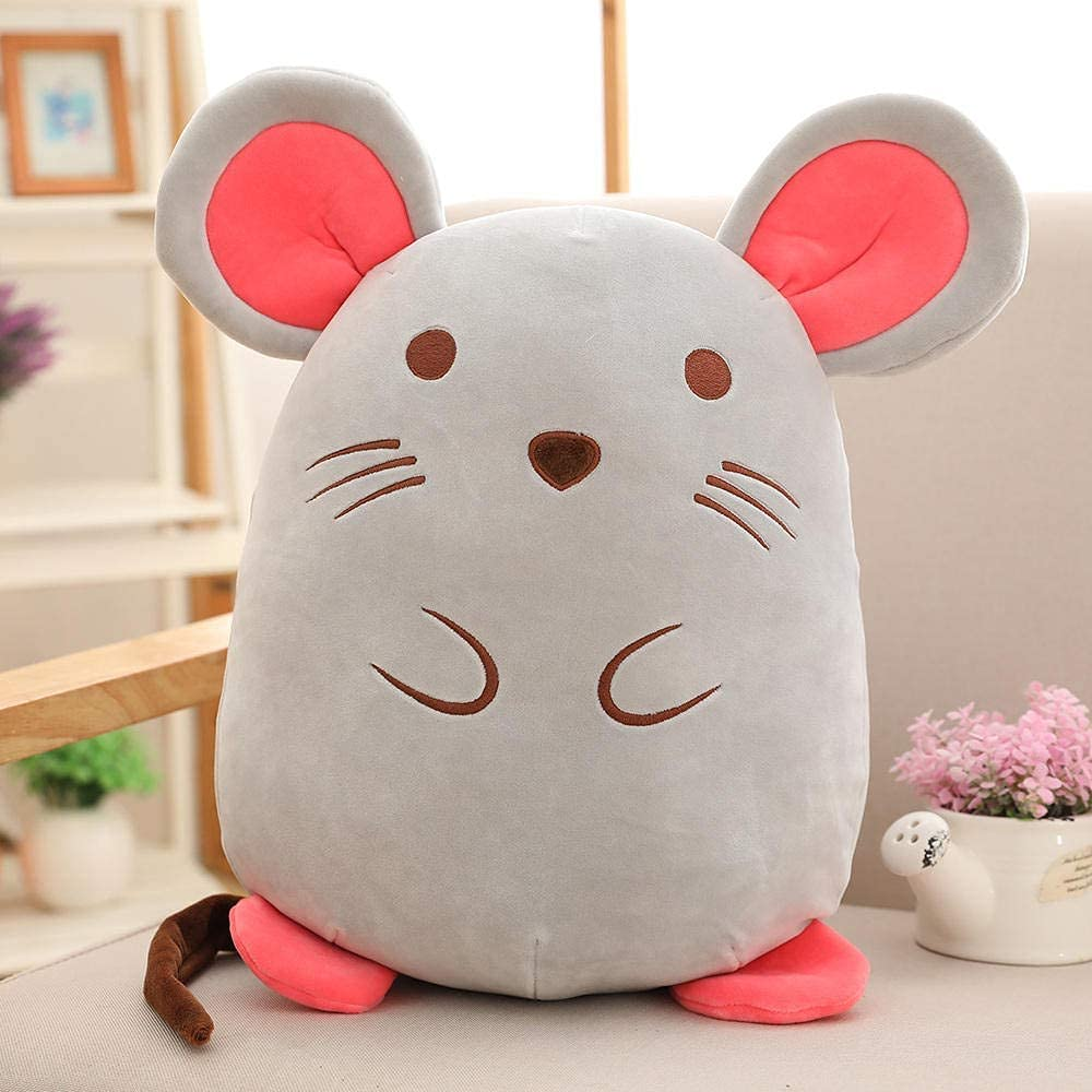 Dfgdf 70% OFF Outlet Animal Pillow Plush Toy Max 55% OFF Gray Sleeping Doll White