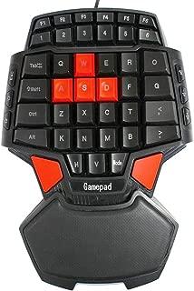 X-super ゲームの人間工学に基づいた片手キーボードメカニカルな感触バックライト付き ミニゲームキーボード