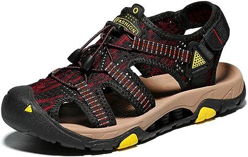 GJLIANGXIE Sandales Sandales pour Hommes Nouvelles Chaussures De Plage en Cuir De Grande Taille Chaussures De Plage en Plein Air pour Hommes Sandales Chaussures De Sport pour Hommes  dessins exclusifs