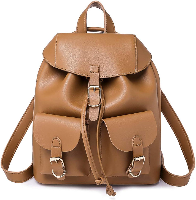 NDHSH damen Soft Leder Rucksack Vintage Schultertasche Große Kapazität Schultaschen Griff Taschen College Reisetaschen B07H94VDM1