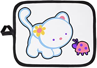 Royal Lion Potholder Pot Holder Kitty Saying Hello to Ladybug