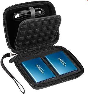 ポータブル耐衝撃ケースfor Samsung t5/ t3/ t1ポータブル250GB 500GB 1tb 2tb SSD USB 3.0外付けソリッドステートドライブ
