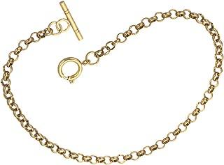 Pocket Watch Chain Albert T-Bar Gold - SIBOSUN Plated 14 Inch Single Chains Link Vest Belt