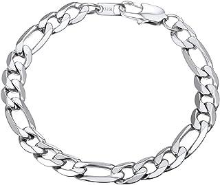 PROSTEEL Men Women Children Stainless Steel Figaro Link Chain Bracelet 6mm/9mm/13mm 7.5''/8.3''