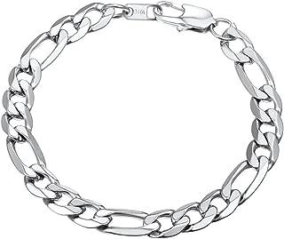 Men Women Children Stainless Steel Figaro Link Chain Bracelet 6mm/9mm/13mm 7.5''/8.3''