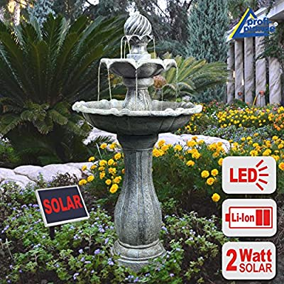 Water Feature Solar Water Cascade Water Feature Fountain For Garden Outdoor Bird Bath Ideal For Balcony Terrace & Garden Beautiful Art For Your Environment Ornamental Fountain Outdoors Fountain