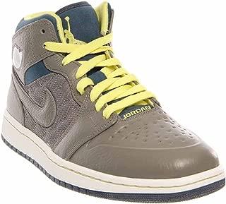 Mens Air Jordan I (One) Retro '97 TXT/ ELECTRIC YELLOW/SQUADRON BLUE/ 555071-045 (SIZE: 10.5)