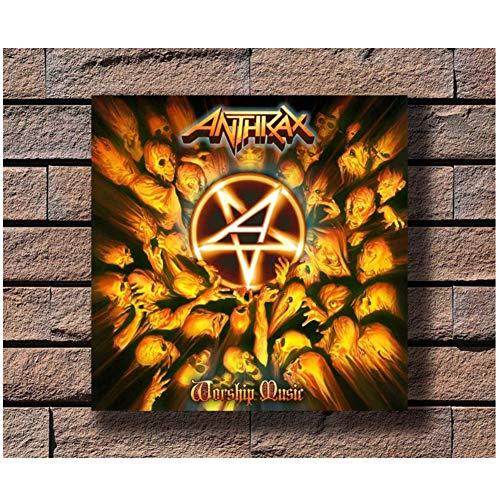 chtshjdtb Anthrax Music Rapper Album Cover Wall Art Poster e Stampe su Tela Pittura Decorazioni per la casa -24X24 Pollici No Frame 1 Pz