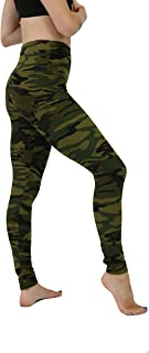 """Solid Color and Printed Leggings for Women – 5"""" High Waist–Ultra Soft Brushed Active Pants"""