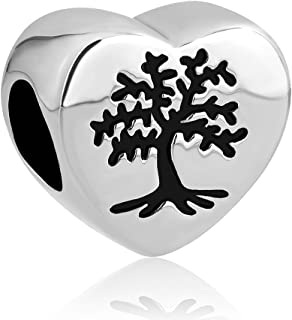 LovelyJewelry New Family Tree of Life Dangle Charm Bead for Bracelet Pendant