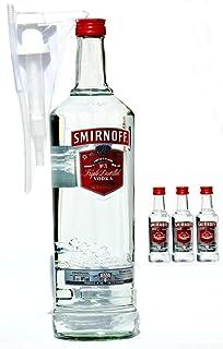 Smirnoff Vodka 3 Liter plus 3 X Smirnoff 0,05 L  Pumpe